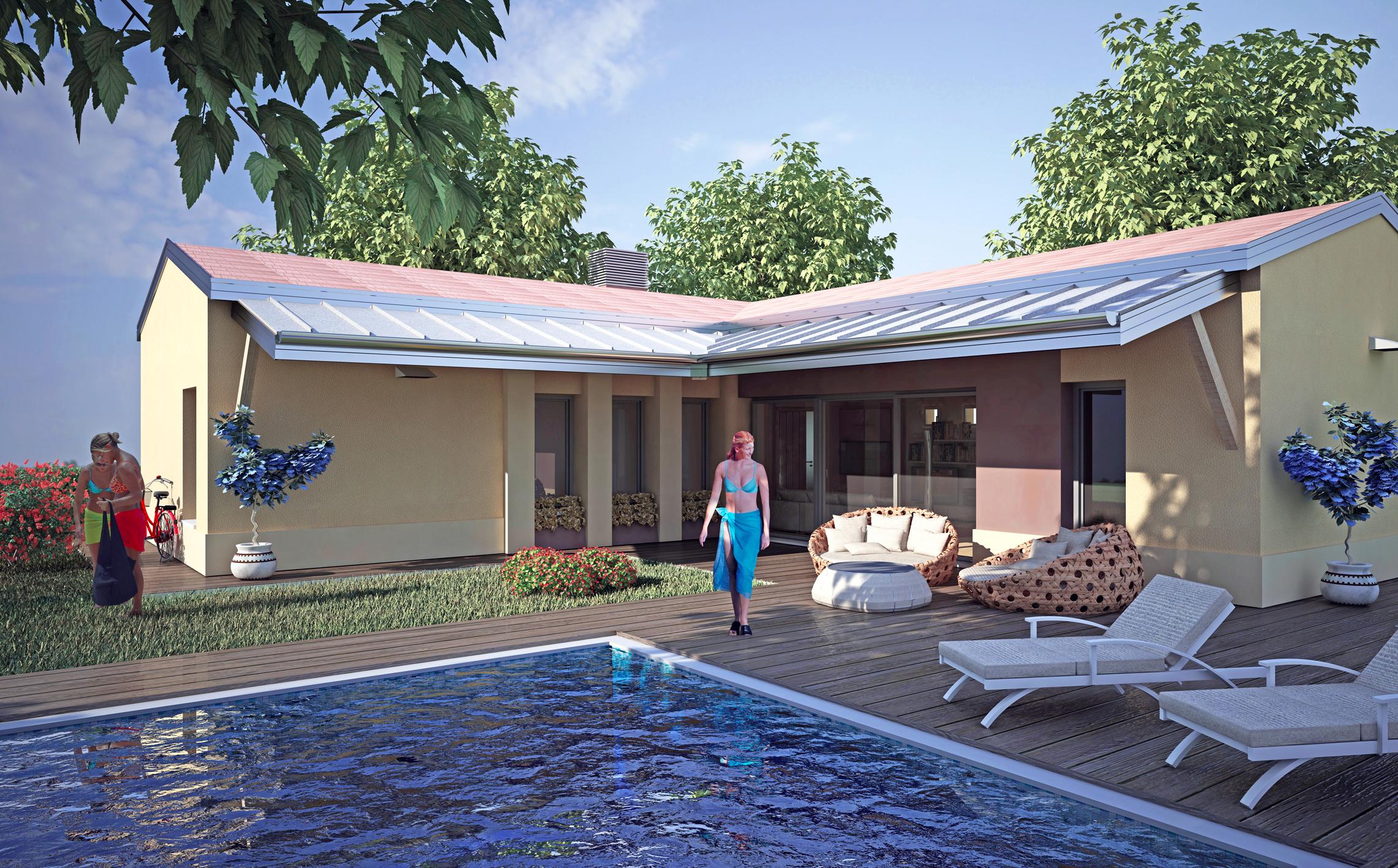 San pietro in casale progetto villa con piscina - Progetto villa con piscina ...